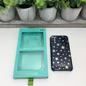 Kate Spade NWT Iphone X Gold Stars Navy Phone Case